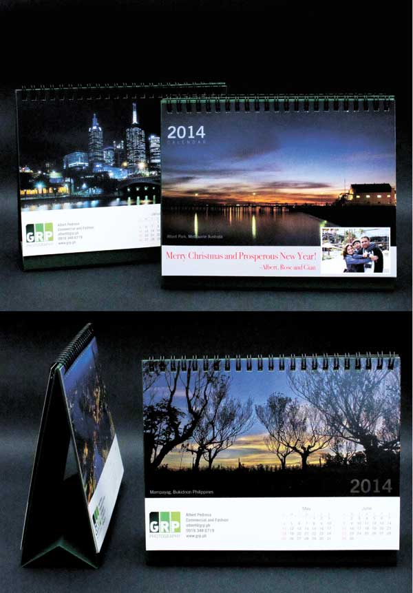 COLLECTION. These calendars form a collection of my landscape photos. I had this printed and binded with GraphicStar.