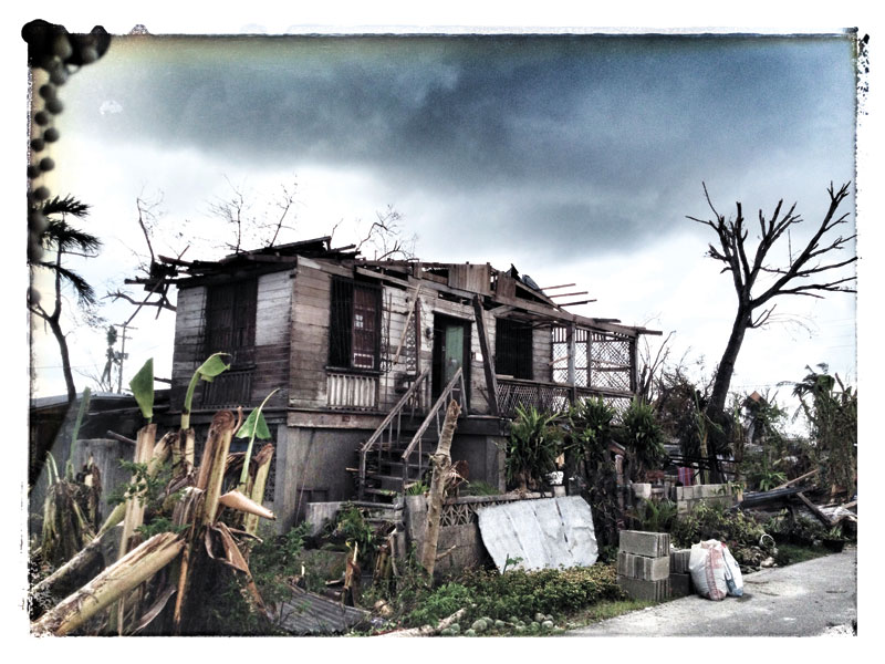 STILL STANDING. One of the many storm-wrecked houses in the northern part of Cebu province.