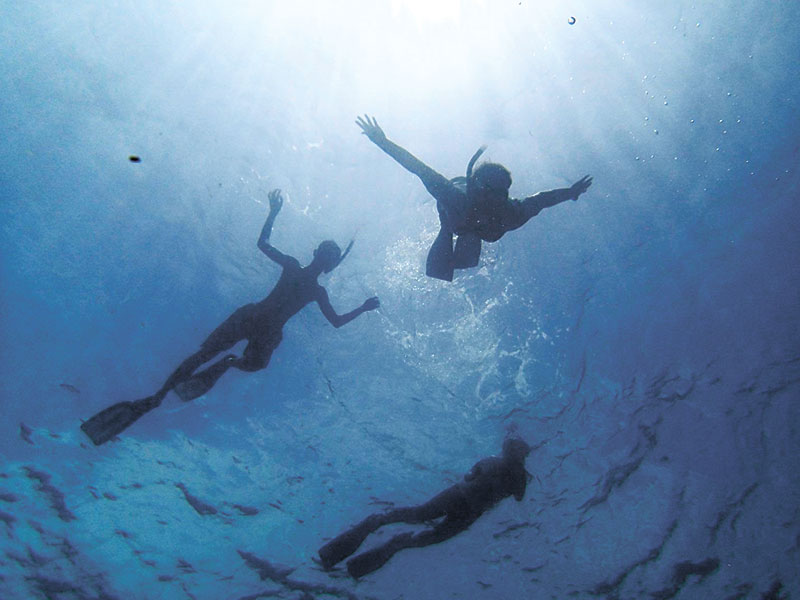 How deep IS YOUR LOVE FOR THE SEA? Freedivers explore the seas one deep breath at a time.