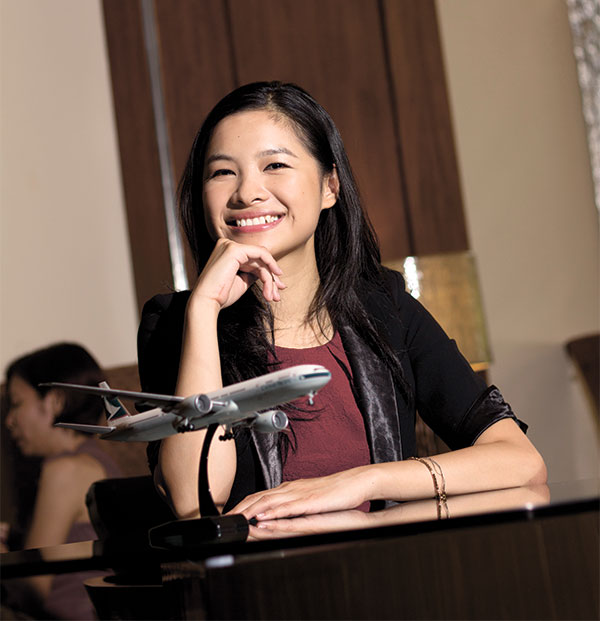 SHE CAN MANAGE. As manager of Cathay Pacific's Southern Philippines station, Sally Wong oversees the airline's Cebu office, as well as leads the sales agents based in Davao and Iloilo.