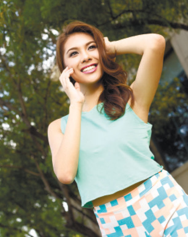 """BEAUTIFUL DISCOVERY. Miss Tourism International 2013 Angeli Dione Gomez wants to encourage people from the different regions in the Philippines to """"discover each other"""" and the wonders that each place has to offer."""