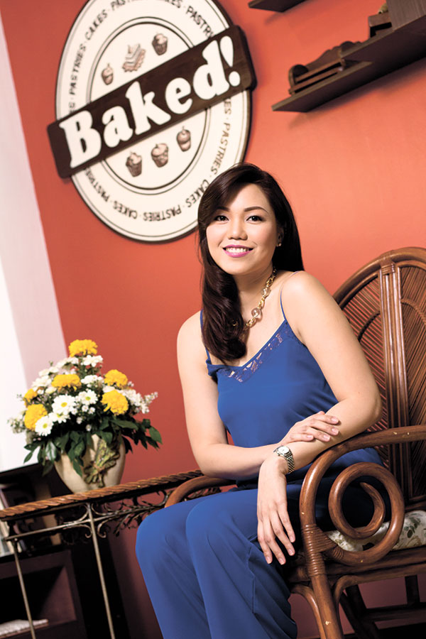 CAKE BOSS. After finishing her culinary studies, Jia Limtong honed her craft at upscale hotels in Singapore and Cebu, before setting up Baked! in 2011, single-handedly.