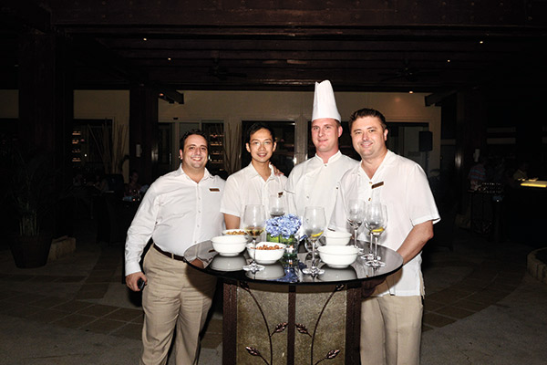 Shangri-La Mactan's resident manager Alex Castaldi, assistant food and beverage manager Marcel, executive sous chef Patrick Buttgereit, director of food and beverage Ben Martlew