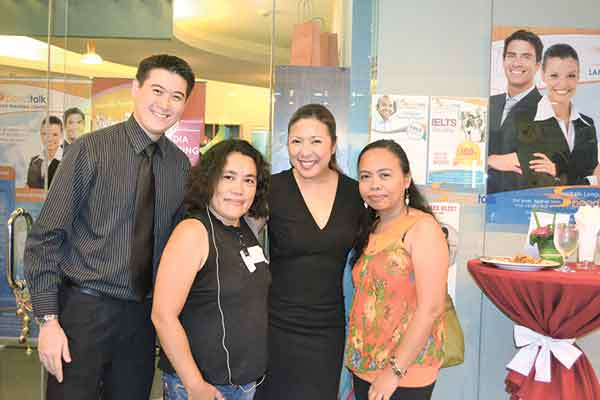 Osmund Ko, Eleanor Valero, Carelle Mangaliag and May Pino