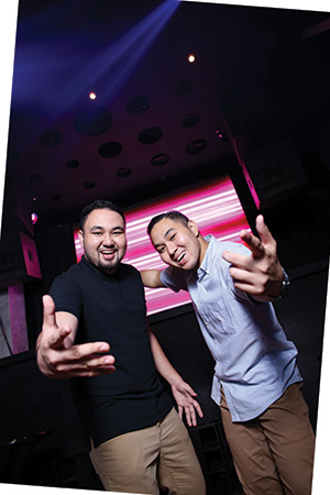 BRO DUO. Apart from events like LifeDance, HyperCebu, Summer Sunscream, Univercity, Spectrum's Invasion series, Gino and Gio have performed in exclusive Manila clubs such as Prive, Imperial Ice Bar and 71 Gramercy. Last June, they opened for international act Chainsmokers for their Selfie Tour.