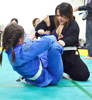 AND LADIES, TOO. Ladies with spunk have reason to be excited about as Deftac Cebu recently launched Women's Jiu-jitsu classes.