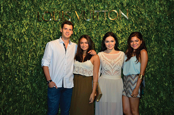 Michael James Lhuillier, Izarra Ugarte, Amanda Booth, and Christelle Dychangco