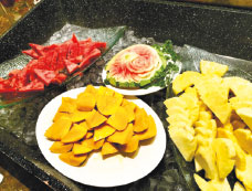 Fresh Fruits at the Dessert Station