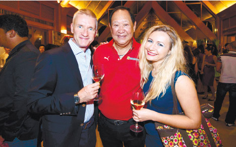 Head of sales ASEAN, Ferrari Far East Region Simon Inglefield, Autostrada Motore president and chair Wellington Soong, and head of marketing ASEAN, Ferrari Far East Region Anastasia Kolpakova