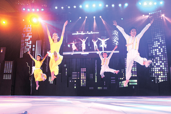 Kids of the Steps Dance Project execute one beautiful move to another at the Ayala Center Cebu.