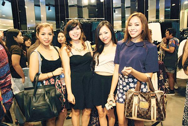 Jenifer Sarmiento, Mitz Jao, Hazel Yap and Ayana Jimenez