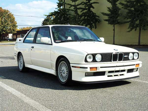 THE BMW E30 M3. One of the iconic four-cylinder cars in the late 1980s. It was one of the main protagonists in the German DTM touring car races at that time.