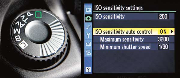Shooting mode and auto ISO
