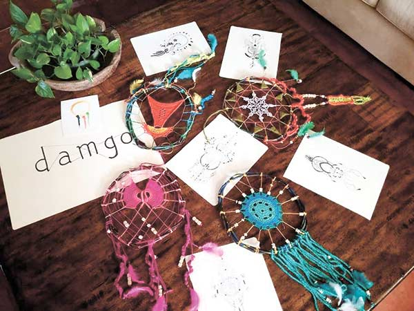 SPIRITED WORKS. Damgo's dream catchers come in various designs. Whether earth-toned or awash with color, these artworks are meaningful expressions of the creative spirit. (CONTRIBUTED FOTO)