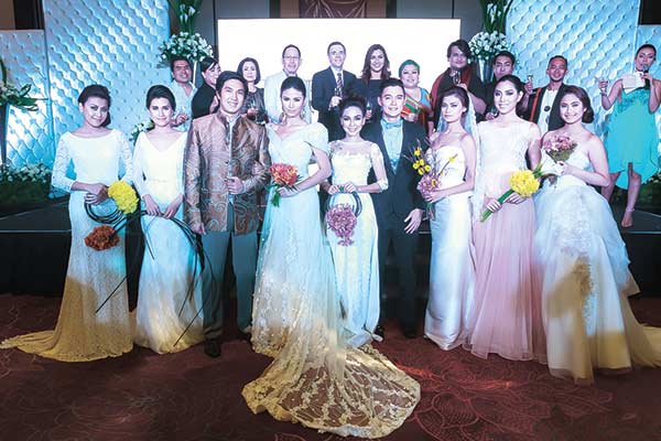 Cebu City Marriott Hotel's executives, alongside featured fashion designers and their bridal couture wears for the Love @ First Like grand finale.