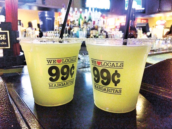 99 cent Margaritas while waiting in line