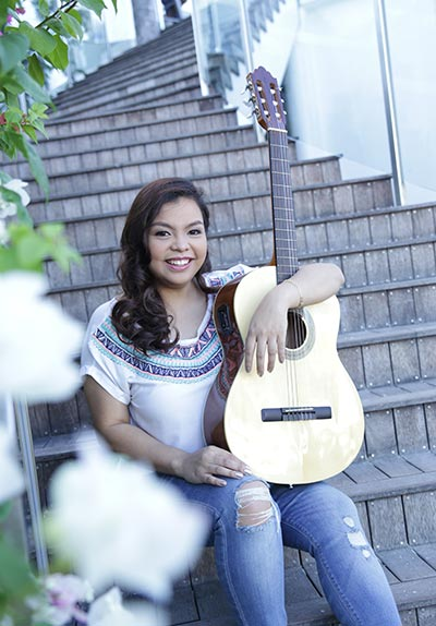 MUSIC IS LOVE. Nicole Alegrado, the songwriter behind the only homegrown track that recently broke into the weekly countdown of a local radio station, reveals a love affair with music that goes way back.