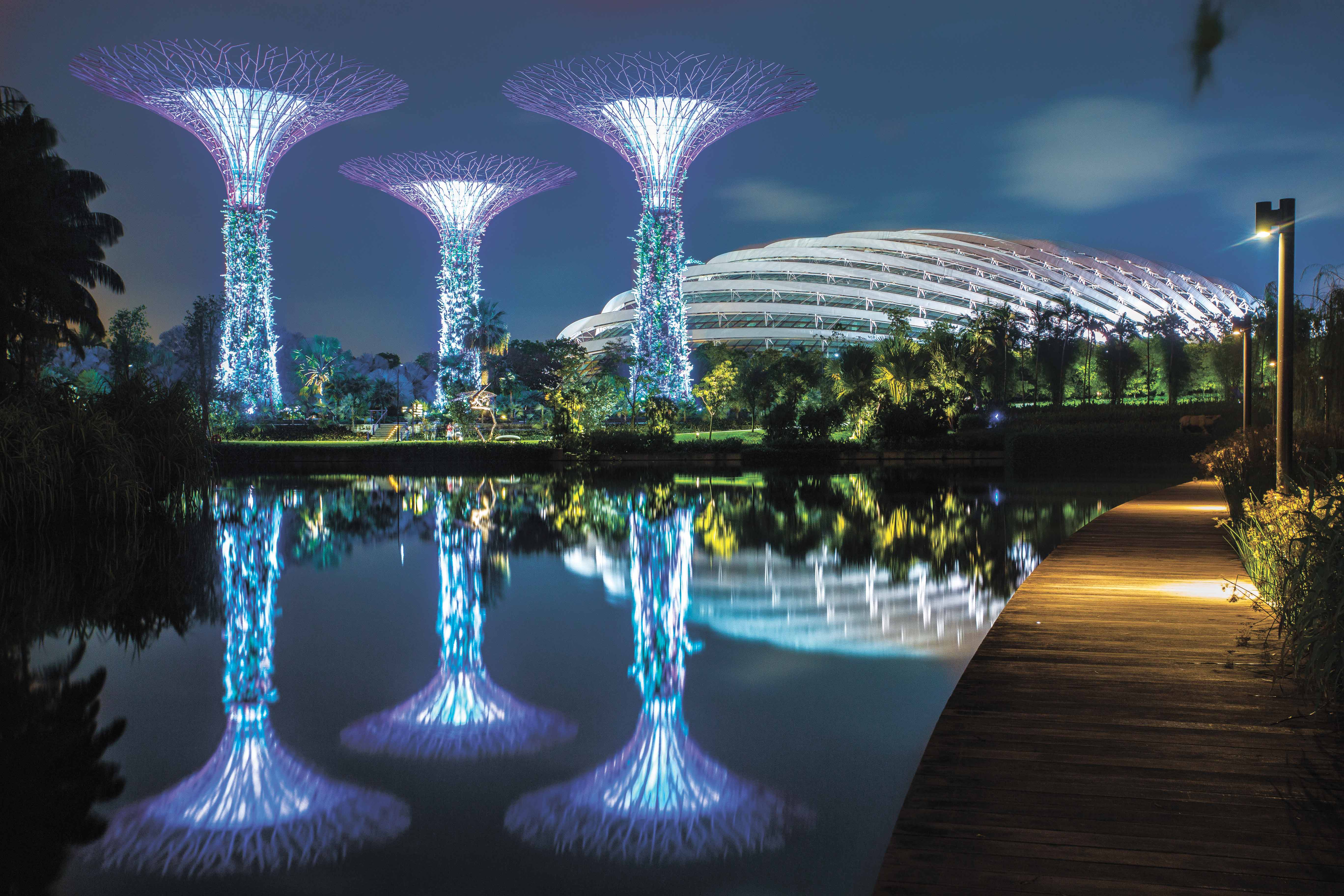 GARDENS BY THE BAY. Global editing using Lightroom 5.