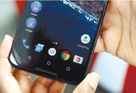 GOOGLE'S next version of its Android operating system will boast new ways to fetch information, pay merchants and protect privacy on mobile devices as the Internet company duels with Apple in the quest to make their technology indispensable. (AP FOTO)
