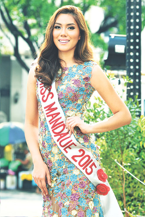 ENRICHING EXPERIENCE. As a med student, Ena said one of her advocacies as Miss Mandaue 2015 is to promote health. Apart from helping out recently in a medical mission, she has proposed nutrition awareness and feeding programs for children during weekends.