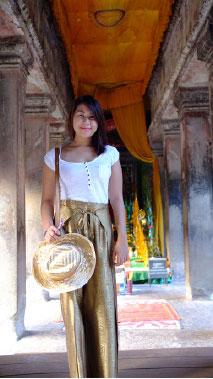 At one of the ancient temples of Angkor Wat.At one of the ancient temples of Angkor Wat.