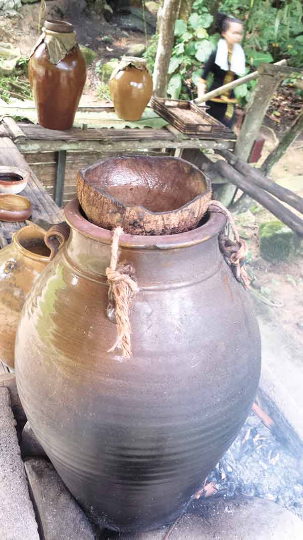 Rice wine of the Dusun tribe