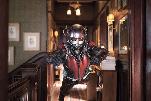 "Paul Rudd as Scott Lang/Ant-Man in a scene from Marvel's ""Ant-Man."" (AP FOTO)"