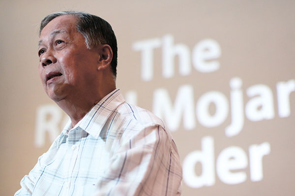 "RESIL MOJARES. The University of San Carlos Press launched ""The Resil Mojares Reader"" at the Cebu Literary Festival 2015, where the Cebuano writer and historian shared his thoughts before an enraptured audience."