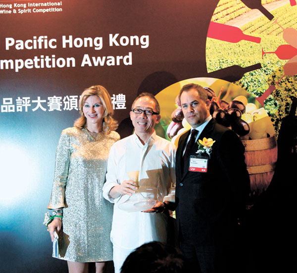 Sumiller 2011 by Manny O. won the Best Wine with Beef Teppanyaki in the Hong Kong International Wine & Spirit Competition 2014.