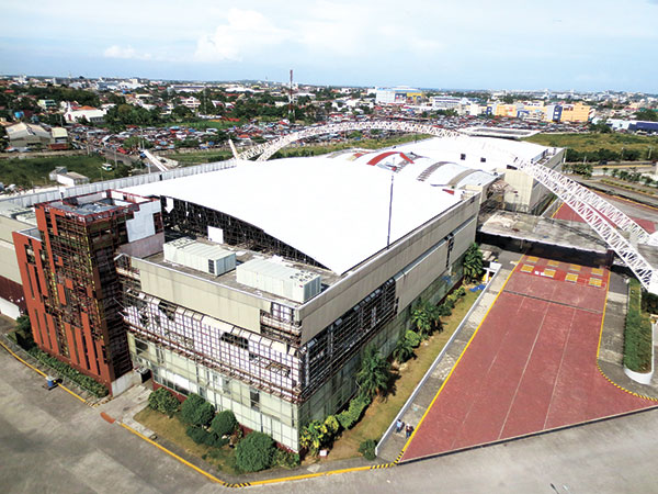SAD STATE. This how the Cebu International Center looks life from the air a few months after it was damaged by a typhoon followed by a strong earthquake in 2013. (Allan Cuizon)