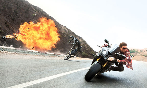 "Tom Cruise appears in a scene from ""Mission: Impossible — Rogue Nation."" (AP FOTO)"