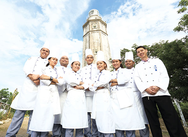 From left: Rener Duterte, Irys Igot, Laurence Capili, Abigail Suarez, Karl Tarrega, Arlyn Mendoza, Alyssa Godinez, Claro Reyes and Chef Jeremy Young.