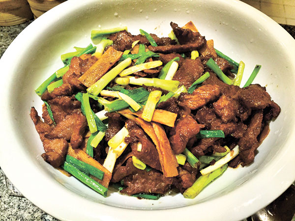 Beef Stir Fry with Ginger and Onions