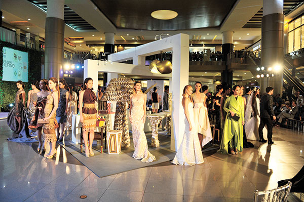The models wearing the collections of the Fashion Council of Cebu. (CONTRIBUTED PHOTO)