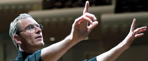 "Michael Fassbender in a scene from the film ""Steve Jobs."" (AP PHOTO)"