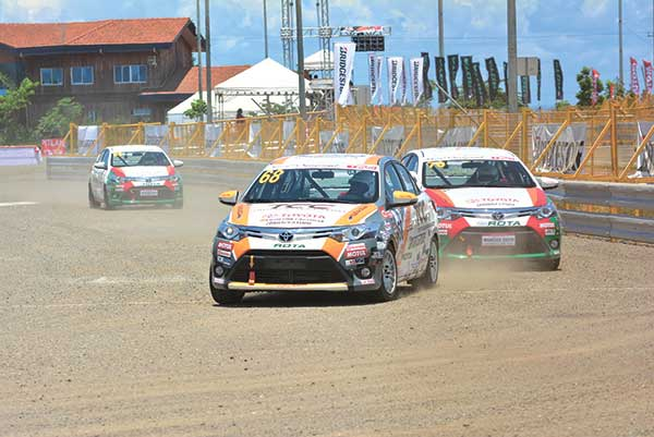 READY, SET. Competitors burn the race track in last May's Vios Cup at the South Road Properties in Cebu. Preparations for the next round of Vios Cup races are underway. (SUN.STAR PHOTO/ALLAN CUIZON)