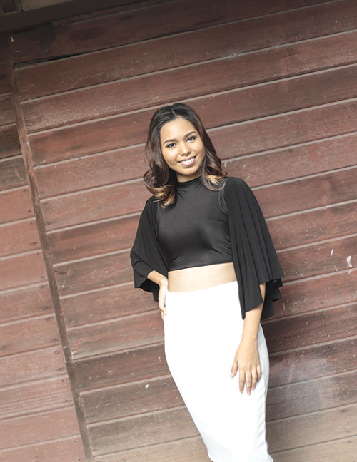 WORLD OF LEARNING. When her internship with Filipino-American fashion designer Josie Natori is done, Cecile plans to travel the world and learn more about fashion from different cultures.