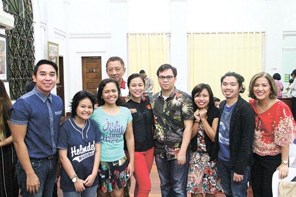 Guests (from left) Manu Avenido, Jan Dalisay, Richellet Chan, Vic Sugbo, Leian Rama, Adonis Enricuso, Shiela Pialago, Niño Loyola, and Hope Yu