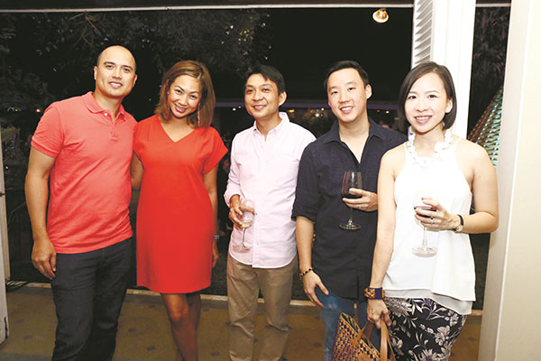 Wesley Chiongbian, Laurice Chiongbian, Marty Qua, Rodrick Uy, and Gretchen Uy