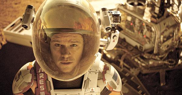 "Matt Damon in a scene from the film, ""The Martian."" (AP PHOTO)"