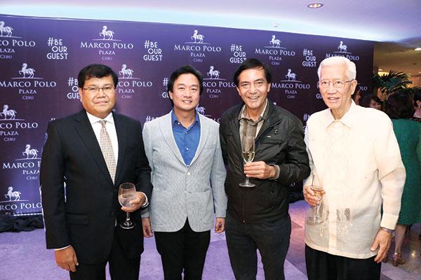 CIRC Vice Chairman Pascual Garcia, CIRC Chairman Alfred Ty, Cebu City Mayor Mikel Rama and Belgian Consul Enrique Benedicto