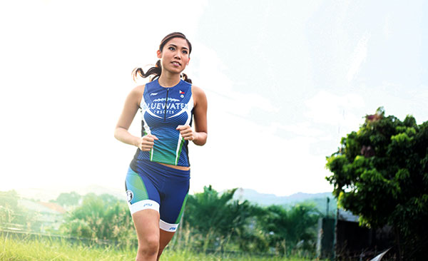 A PURPOSEFUL LIFE. Evangeline Hayco goes through life's race slow and steady, but always with a clear goal in mind. Whether competing in triathlons or helping those in need, she remains focused, her unflappable resolve seeing her through.