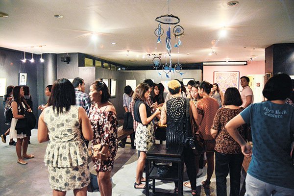 """Artists and guests flocked to 856 G Gallery for the opening of """"HERA,"""" an all-female exhibit, last Oct. 22."""