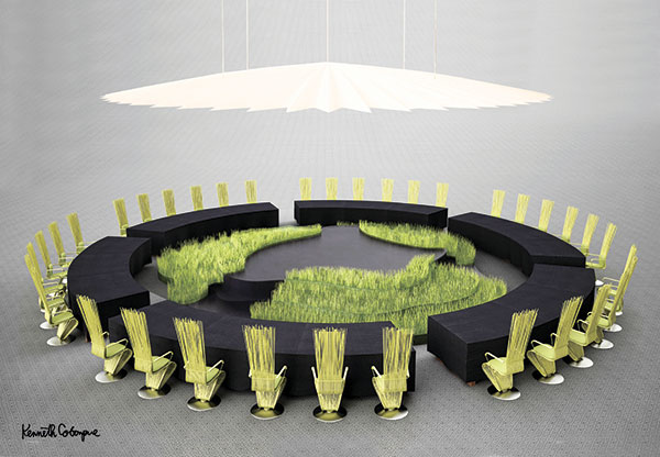 Set design for APEC Economic Leaders' Welcome Dinner