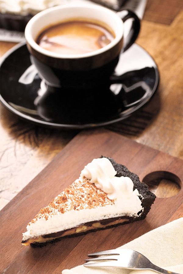 Treat Street Pie and Long Black