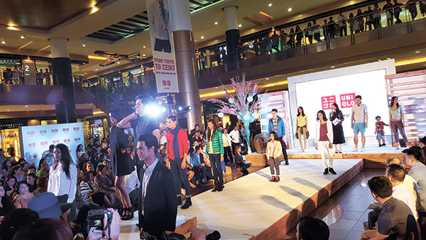 LIFEWEAR. Uniqlo held a fashion show at the SM City North Wing as part of pre-opening activities last Oct. 21 to launch its first branch in Cebu.