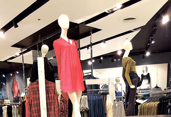 Topshop's new collection Wild One on display at Ayala Center Cebu.