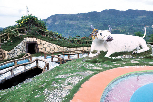 HELLO, CARABAO. Wonder why there are huge carabao sculptures in Coal Mountain Resort? This upland area used to be grazing grounds for carabaos, that's why, and the sculptures are a joyful reminder of the resort's humble past.
