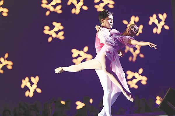 Peter Lloyd San Juan and Regina Magbitang of the Philippine Ballet Theater
