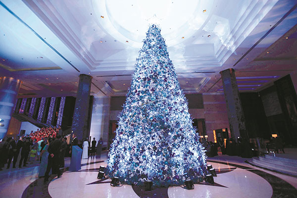 Radisson Blu Cebu's 45-foot Christmas Tree